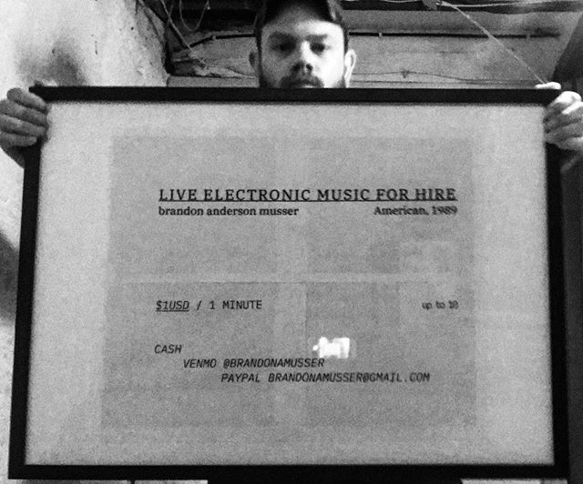 I'll be performing #liveelectronicmusicforhire 10-4CST today at @fivewattcoffee FleaMarket /// 1USD / 1 MINUTE UP TO 10