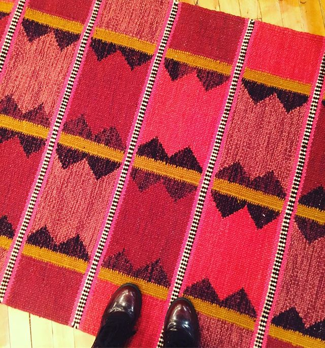 When your shoes match your rug #interiordesign #inspired #style #color #bohemian #woven #rug #tapestry #interiors #design #ethicallymade #india