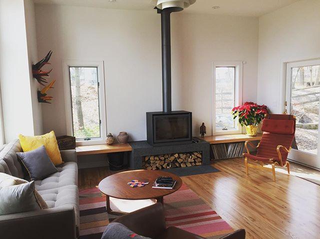 A project in progress.#custom #design #interiordesign #vintage #midcentury #modern #decor #teak #fireplace #builtin