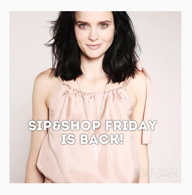 Sip&Shop Fridays are back!  Welcome to our showroom boutique on Mercer Island on Dec 8 2-7pm. Prosecco served all afternoon and deals on previous season to be done. Plus new stock of fall dresses.