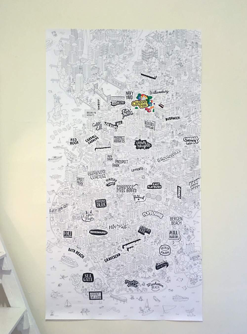 We bought this poster to help us figure out where everything is in Brooklyn. The cartoons help me find my way far better than Google Maps.