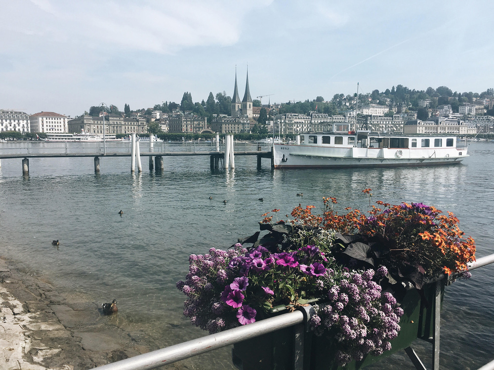 This was the first view I saw of Lucern when I got off the train. It wasn't hard to convince me to stay.