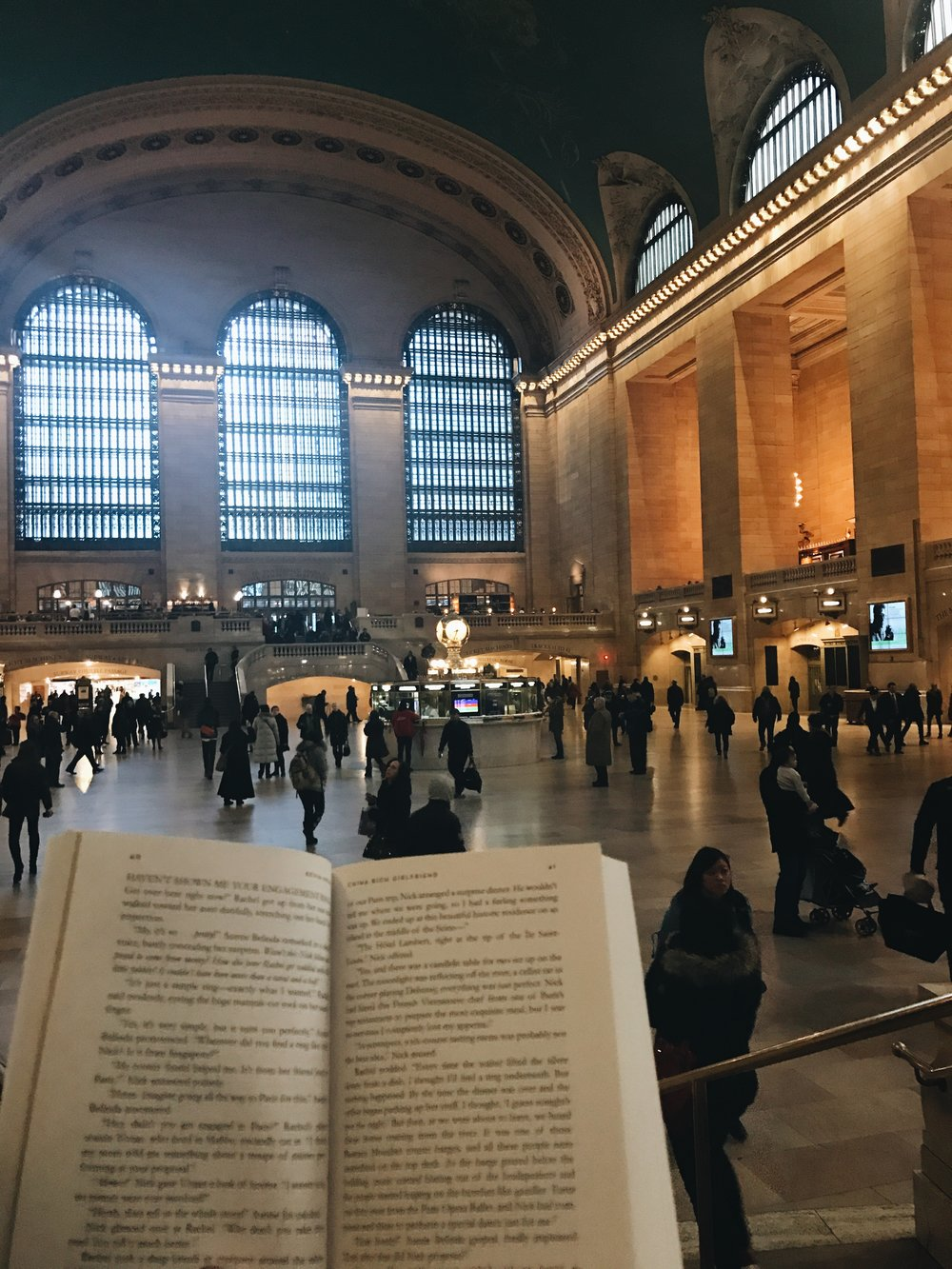I often read on the steps of Grand Central Station before work and during lunch. I never get over the fact that I'm reading on the steps of Grand Central Station before work and during lunch.