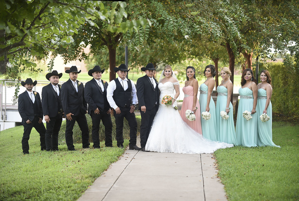 Sugar Land Wedding Bridal Party 2