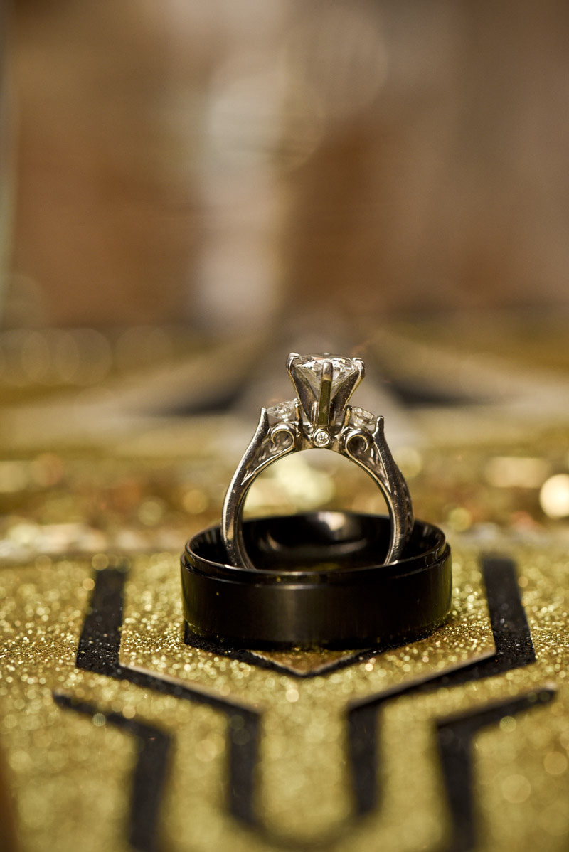 Wedding ring shot from a 1920's /Great Gatsby themed wedding.