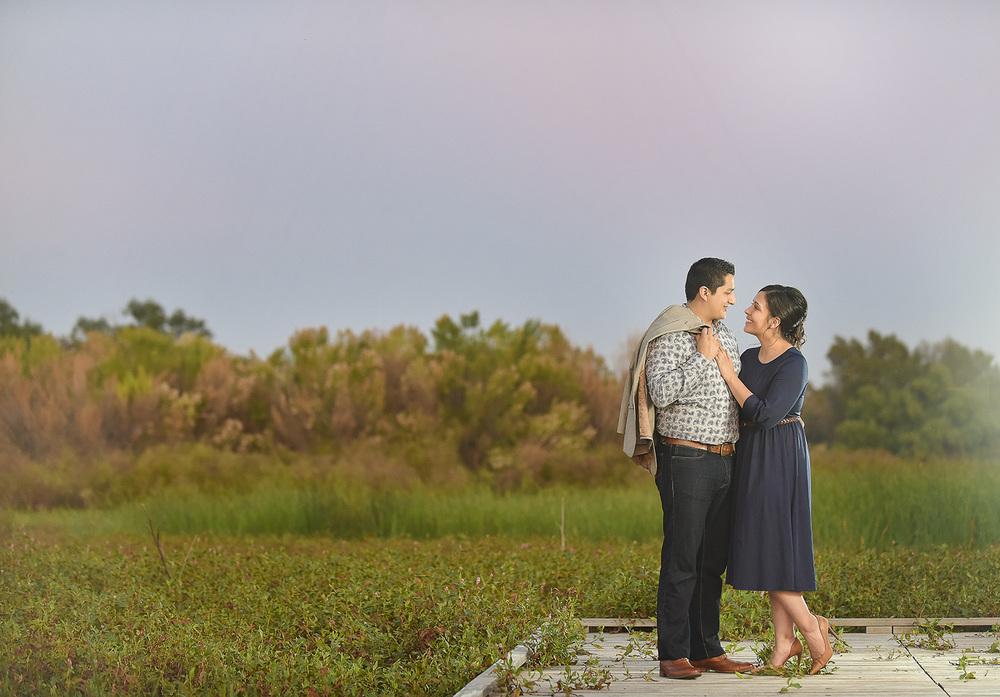 Romantic Midland, TX Engagement Photo