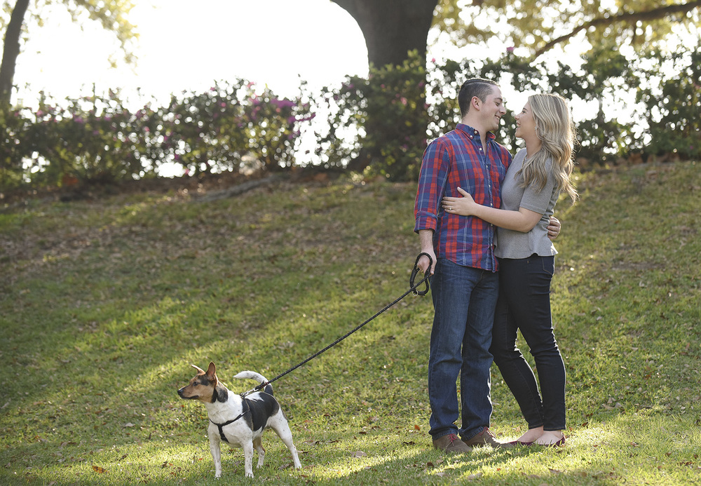 Sam Houston Park Engagement