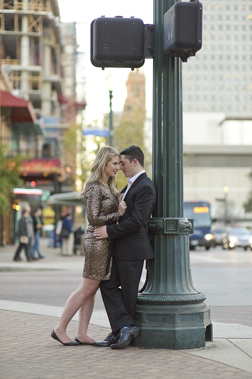 Houston Market Square Engagement