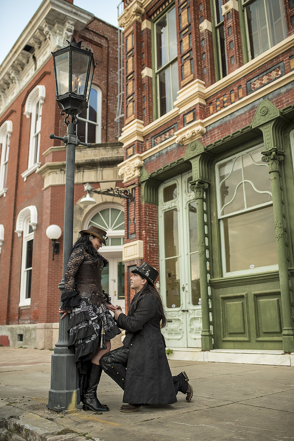 Historic Strand Galveston Engagement