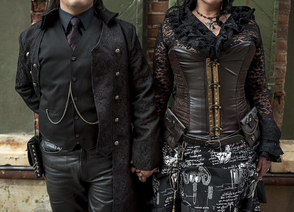 Steampunk engagement photo