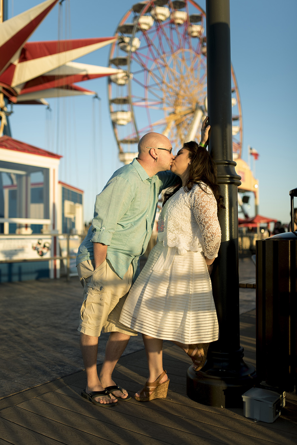 Galveston Pleasure Pier Engagement photo