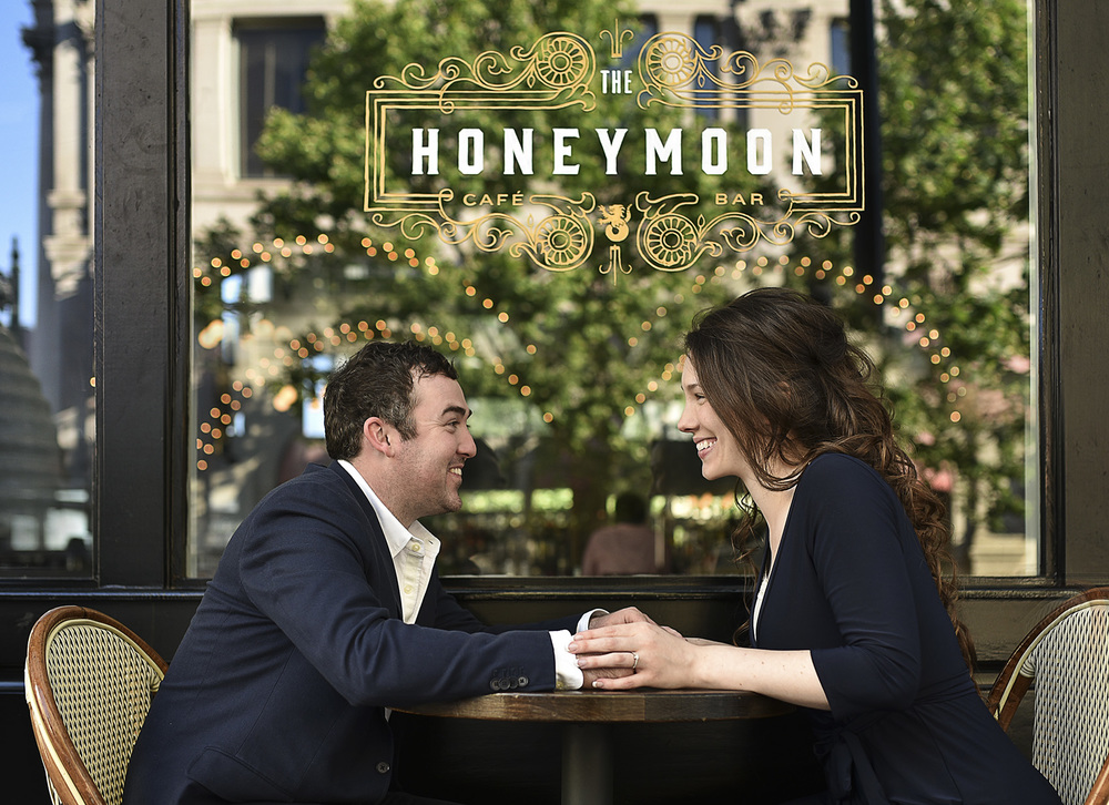 Houston Honeymoon cafe modern classy engagement photography