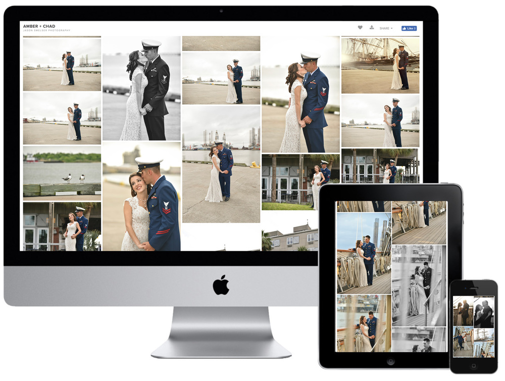 I use a company called Pixieset for my client photo galleries and they are absolutely beautiful.  You will love viewing and sharing your wedding day images!