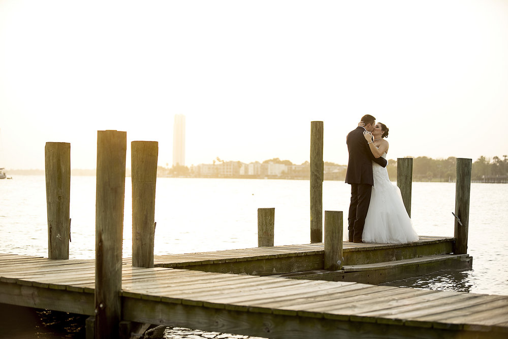 Beautiful April sunset at the Admiral at Endeavour Marina on Clear Lake in Seabrook, TX  for Jennifer & August's Wedding.