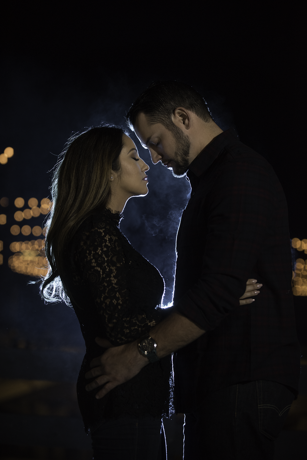 Magmod dramatic light and vape smoke engagement photo