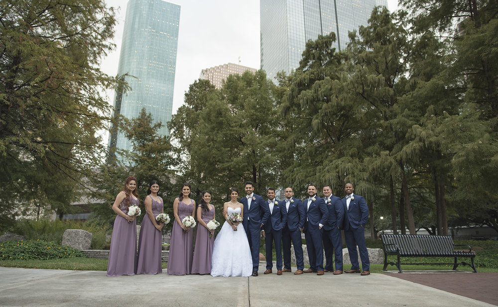 sam-Houston-Park-bridal-party-wedding-photos