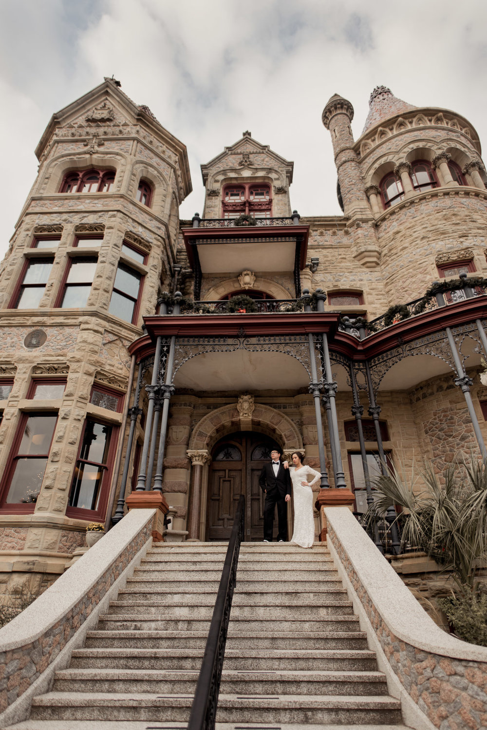 Galveston-bishops-palace-vintage-historical-engagement-photographer