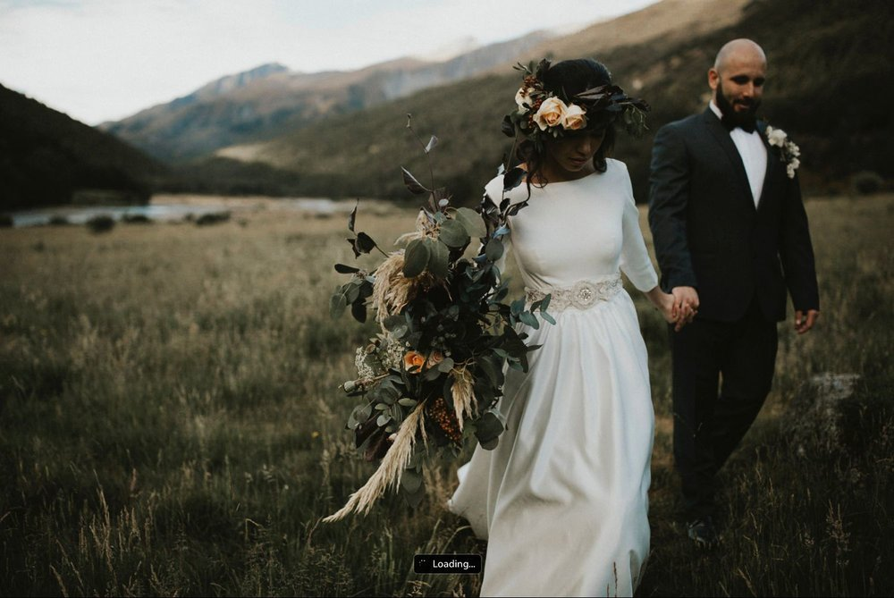 Queenstown florals wedding