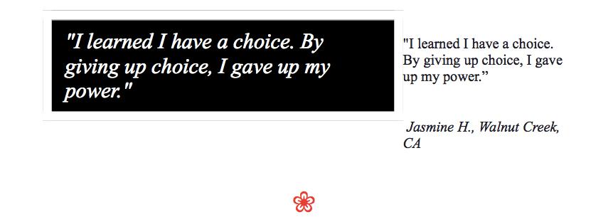 Jasmine H. Quote