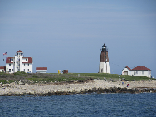Port Judith Lighthouse (down the road from their house)