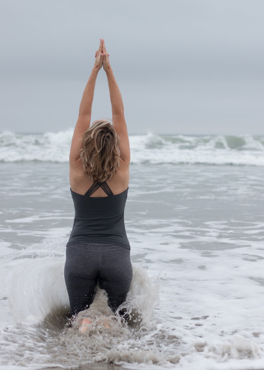 Yoga in Ocean Waves