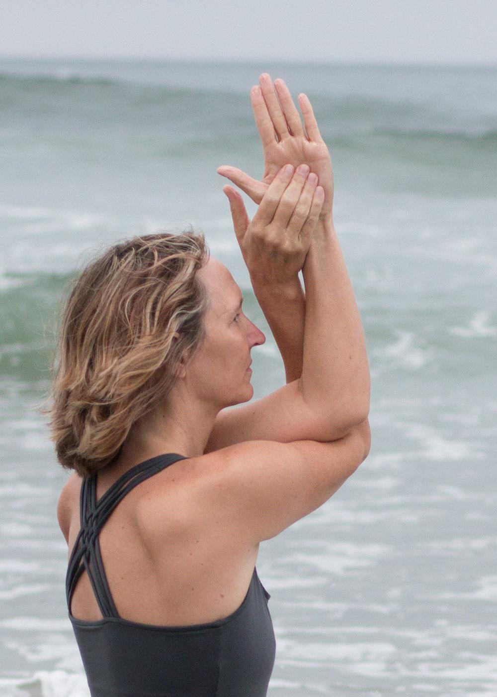 Yoga Ocean Hands