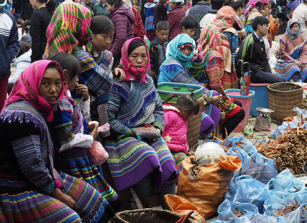 Northern Vietnam Tour 2017 - At the Bac Ha Sunday Market.  Image by courtesy of Colin Day