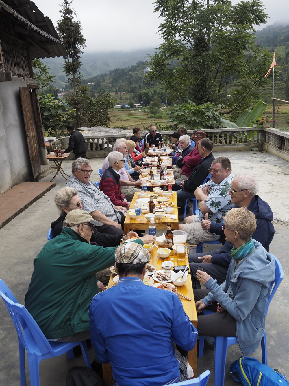 Northern Vietnam Tour 2017 - Lunch at a village house. Image by courtesy of Colin Day