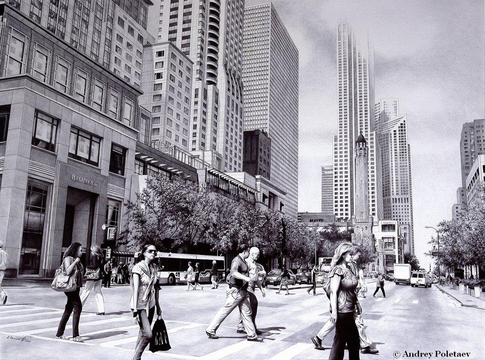 PoletaevArt-BallpointPen-MagnificentMile-Chicago.jpg