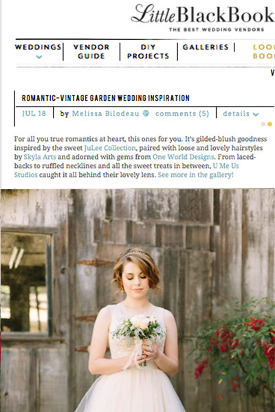 Romantic-Vintage Garden Wedding Inspiration