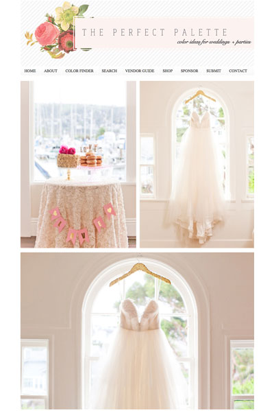 The Perfect Palette Feature // Valentine's Day Wedding Inspiration