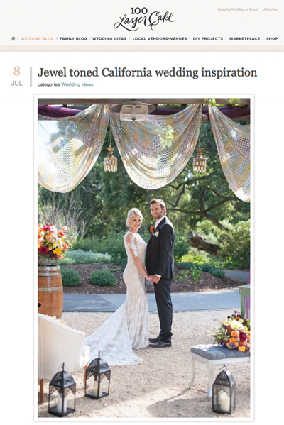 100 Layer Cake Feature // Jewel Toned California Wedding Inspiration