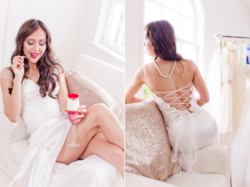 """Caribbean Dream"" two piece bridal dress"