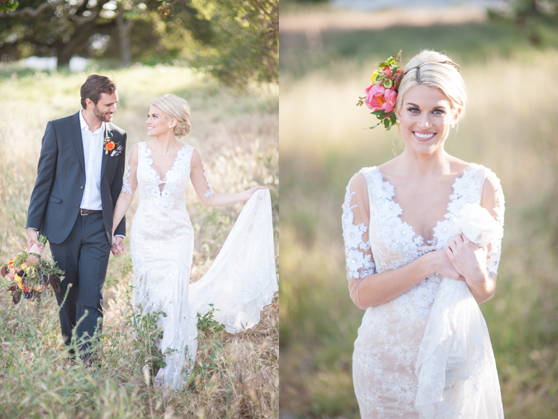 Flower crowns complete the overall bridal look. It's fresh and modern and oh so romantic!