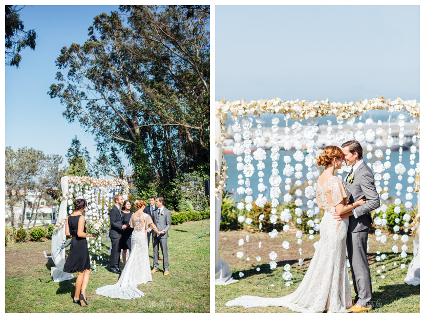 Wow, isn't this handmade paper flower ceremony back incredible?