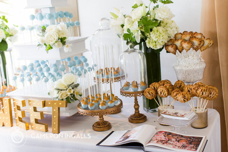 This dessert table is a sweet heaven! Look at the cute heart shaped pies on sticks.Yum!