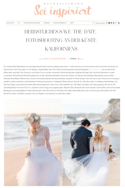 Ju.Lee Collection featured on Hochzeitswahn Blog