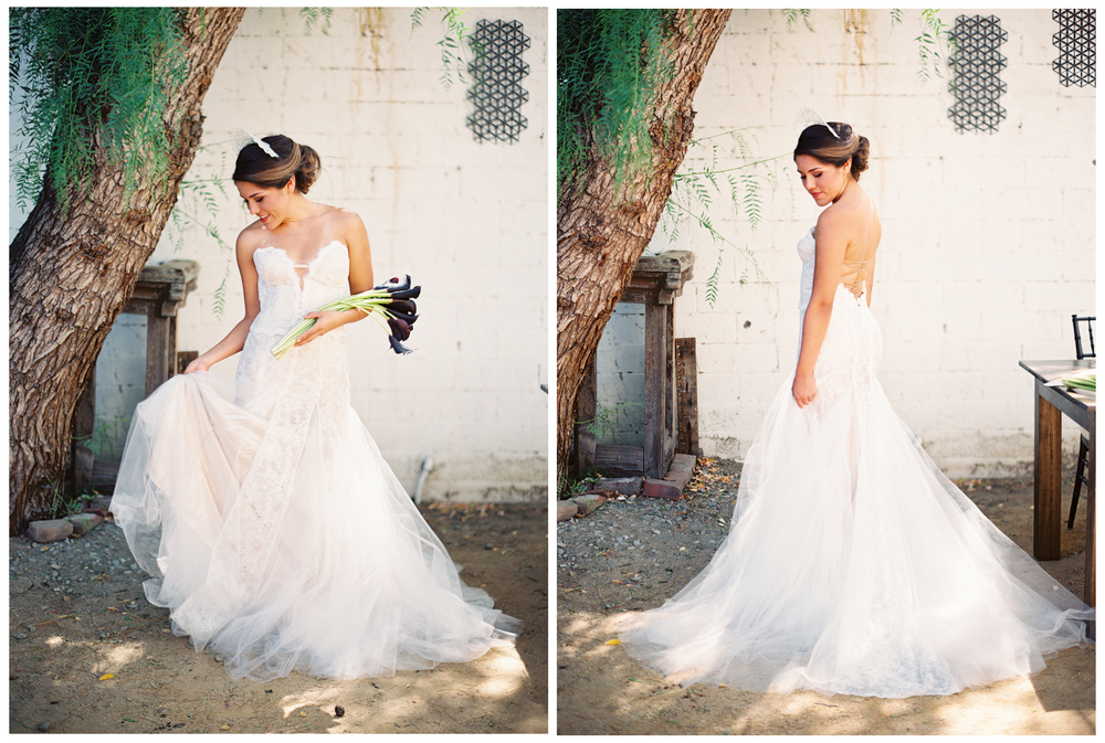 "Our ""Caribbean Passion"" two piece wedding dress looks ravishing on the bride with this simple styling."