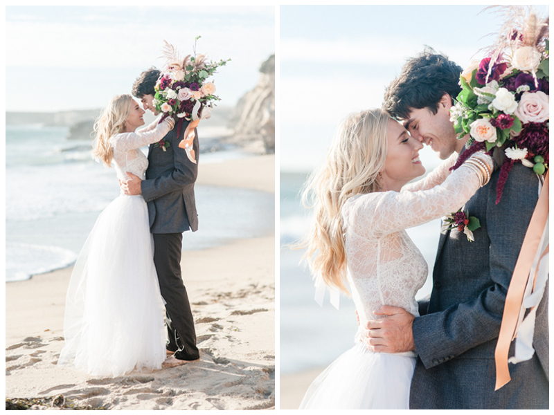 Modern romantic bridal style by San Francisco San Jose Bay Area Ju.Lee Collection. Photo by Andrea Rufener.