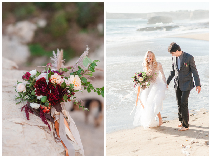 Beach wedding inspiration. Photo by Andrea Rufener. Bride's outfit by Ju.Lee Collection.