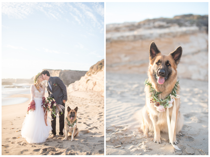 Boho beach wedding inspiration in Santa Cruz, California. Photo by Rahel Menig.