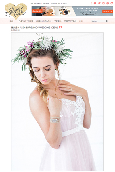 Ju.Lee Collection featured on Wedding Chicks