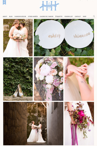 Ju.Lee Collection featured on H&H Weddings