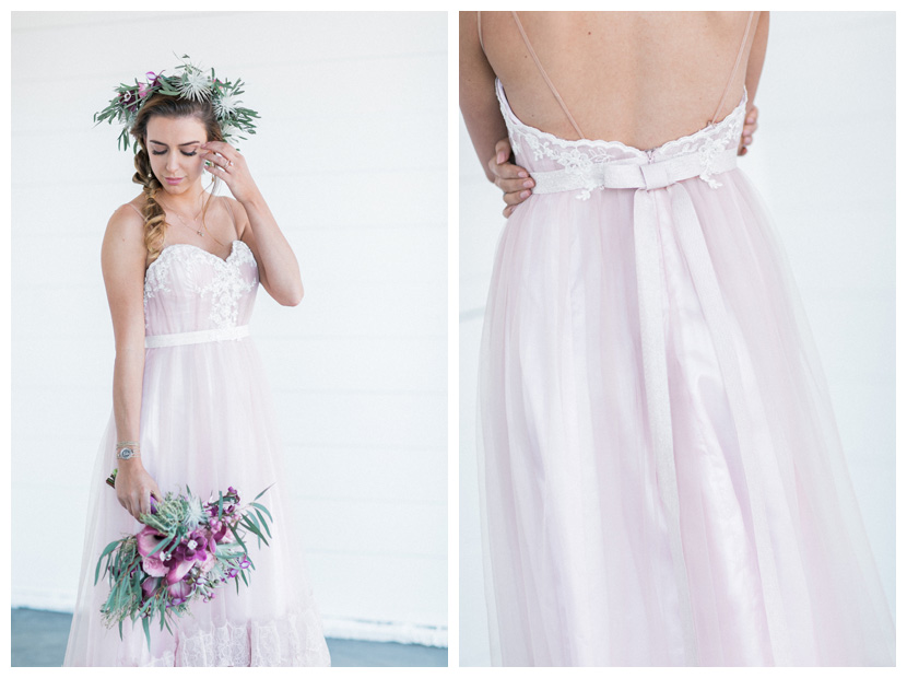 """Malibu"" wedding dress from our Vintage Muse Collection in vintage rose color."