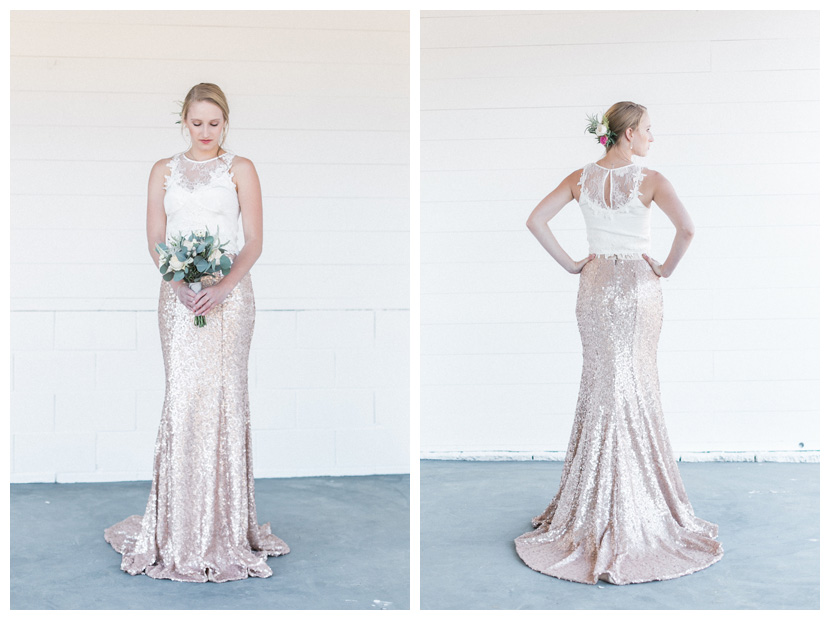 """Precious"" bridal crop top with lace applique details 