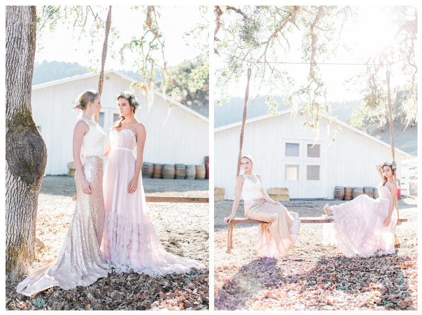 Northern california outdoor rustic wedding bridal styles Ju.Lee Collection