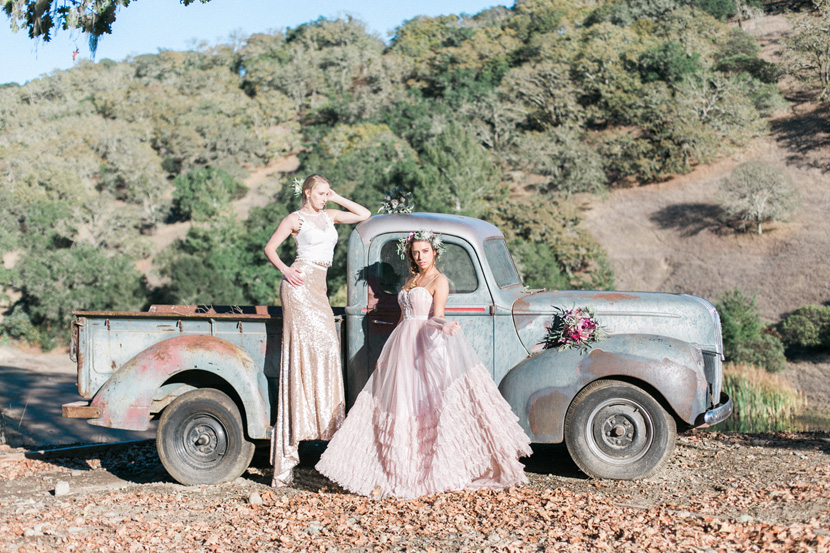 This vintage car found at the ranch can add a rustic cool vibe to any wedding!