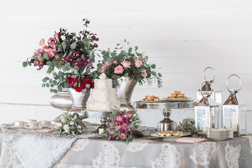 Floral dessert table design for weddings SF Bay Area California