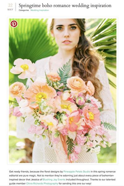 Spring Boho Romance Wedding