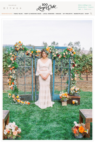 Bay Area California Garden Vineyard Wedding